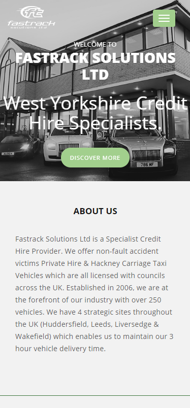 Fast Track Solutions Mobile Website